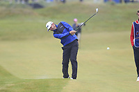 Liam Johnston (SCO) plays his 2nd shot on the 18th hole during Saturday's Round 3 of the Dubai Duty Free Irish Open 2019, held at Lahinch Golf Club, Lahinch, Ireland. 6th July 2019.<br /> Picture: Eoin Clarke | Golffile<br /> <br /> <br /> All photos usage must carry mandatory copyright credit (© Golffile | Eoin Clarke)