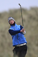 Sean Doyle (Black Bush) on the 13th tee during Round 2 of the Ulster Boys Championship at Portrush Golf Club, Portrush, Co. Antrim on the Valley course on Wednesday 31st Oct 2018.<br /> Picture:  Thos Caffrey / www.golffile.ie<br /> <br /> All photo usage must carry mandatory copyright credit (&copy; Golffile | Thos Caffrey)