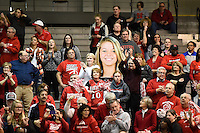 University of Hartford fans including Amber Bepko's cheering section before the game.  Albany claimed the America East Championship for the forth year in a row with a 84-75 win over the Hawks.  Steve McLaughlin / Special to The Courant