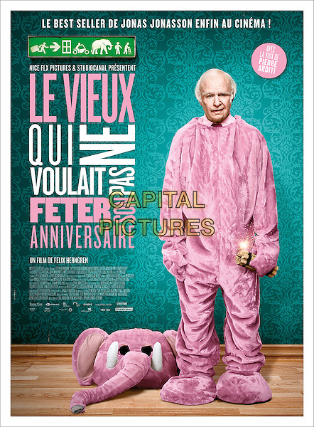 FRENCH POSTER ART<br /> in The 100-Year-Old Man Who Climbed Out the Window and Disappeared (2013) <br /> (Hundraaringen som klev ut genom fonstret och forsvann)<br /> *Filmstill - Editorial Use Only*<br /> CAP/NFS<br /> Image supplied by Capital Pictures