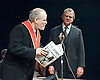 An Enemy of the People <br /> by Henrik Ibsen <br /> a version by Christopher Hampton <br /> at Chichester Festival Theatre, Chichester, West Sussex, Great Britain <br /> Press photocell <br /> 29th April 2016 <br /> <br /> Hugh Bonneville as Dr Tomas Stockmann <br /> Trevor Cooper as Morten Kiil <br /> <br /> <br /> <br /> <br /> Photograph by Elliott Franks <br /> Image licensed to Elliott Franks Photography Services