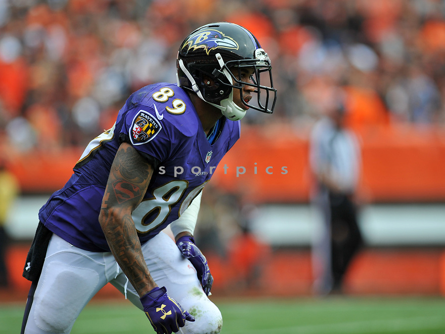 CLEVELAND, OH - JULY 18, 2016: Wide receiver Steve Smith #89 of the Baltimore Ravens runs a route in the second quarter of a game against the Cleveland Browns on July 18, 2016 at FirstEnergy Stadium in Cleveland, Ohio. Baltimore won 25-20. (Photo by: 2017 Nick Cammett/Diamond Images)  *** Local Caption *** Steve Smith(SPORTPICS)