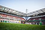 01.05.2019, RheinEnergie Stadion , Köln, GER, 1.FBL, Borussia Dortmund vs FC Schalke 04, DFB REGULATIONS PROHIBIT ANY USE OF PHOTOGRAPHS AS IMAGE SEQUENCES AND/OR QUASI-VIDEO<br /> <br /> im Bild | picture shows:<br /> die Mannschaften des VfL Wolfsburg und des SC Freiburg unmittelbar vor dem Pokalfinale, <br /> <br /> Foto © nordphoto / Rauch