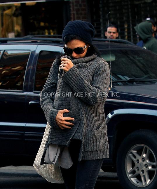 WWW.ACEPIXS.COM<br /> <br /> September 17 2013, New York City<br /> <br /> Hilaria Baldwin keeps baby Carmen under wraps on a chilly day on September 17 2013 in New York City<br /> <br /> By Line: Zelig Shaul/ACE Pictures<br /> <br /> <br /> ACE Pictures, Inc.<br /> tel: 646 769 0430<br /> Email: info@acepixs.com<br /> www.acepixs.com