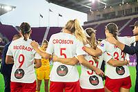 Orlando, FL - Saturday October 05, 2019: Tegan McGrady, Megan Crosson, Crystal Thomas, Ashley Hatch , Orlando Pride vs Washington Spirit Stars at Exploria Stadium.