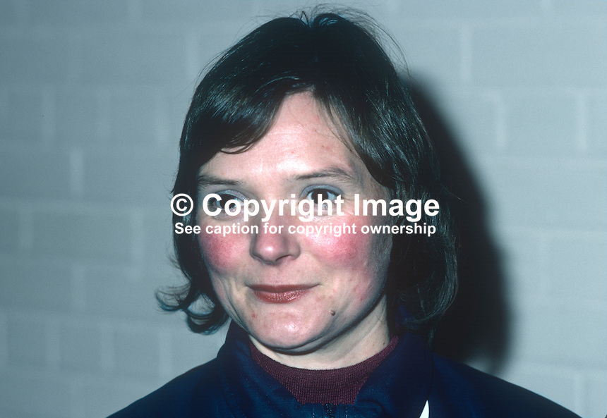 Julie Morrison, squash player, Irish International, 1981001000014JM..Copyright Image from Victor Patterson, 54 Dorchester Park, Belfast, United Kingdom, UK...For my Terms and Conditions of Use go to http://www.victorpatterson.com/Victor_Patterson/Terms_%26_Conditions.html