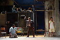 Cape Town Opera returns to the London Coliseum with their acclaimed production of Porgy and Bess. Picture shows:  Xolela Sixaba (Porgy), Victor Ryan Robertson (Sporting Life) and Nonhlanhla Yende (Bess).