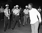A young protester shouts at police during the halting of a demonstration in montgomery Ala. (Photo by jim Peppler).  This and over 10,000 other images are part of the Jim Peppler Collection at The Alabama Department of Archives and History:  http://digital.archives.alabama.gov/cdm4/peppler.php