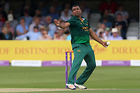 Samit Patel in bowling action for Notts during Essex Eagles vs Notts Outlaws, Royal London One-Day Cup Semi-Final Cricket at The Cloudfm County Ground on 16th June 2017
