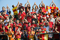 Benevento supporters celebrate their promotion to Italian Serie A championship after the victory   in Serie B play-off match played against Carpi FC at Vigorito stadium in Benevento 08 giugno 2017<br /> i tifosi del benevento festeggiano la promozione della squadra in Serie A