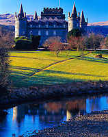 Inverary Castle, Scotland, United Kingdom    Canpbell can fortress rebuilt in 1700's One of Scotland's finest castles    Argyll and Bute