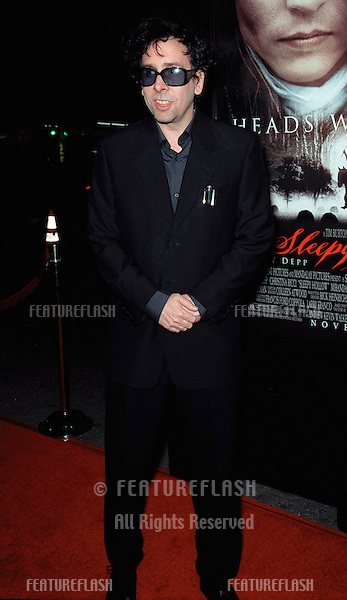 "17NOV99:  Director TIM BURTON at the world premiere, in Hollywood, of his new movie ""Sleepy Hollow"" which stars Johnny Depp & Christina Ricci..© Paul Smith / Featureflash"