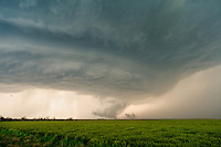 Rotating Severe Supercell Thunderstorm in Hill City, Kansas, May 22, 2007