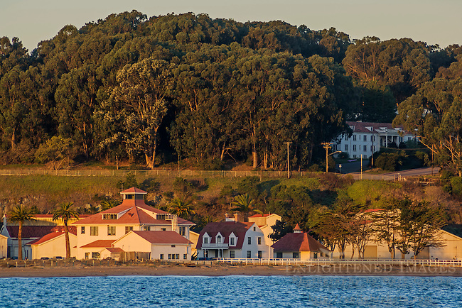 Historic Coast Guard Station near Chrissy Field in the Presidio of San Francisco, along San Francisco Bay, California