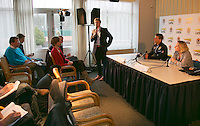 21-01-14,Netherlands, Almere,  Centerpoint, Press-conference Daviscup, KNLTB director Erik Poel announces new deal with Lotto<br /> Photo: Henk Koster