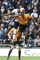 Japhet Tanganga of Tottenham Hotspur and Adama Traore of Wolverhampton Wanderers during Tottenham Hotspur vs Wolverhampton Wanderers, Premier League Football at Tottenham Hotspur Stadium on 1st March 2020