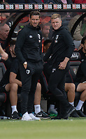 Bournemouth assistant manager Jason Tindall (left) and manager Eddie Howe (right) <br /> <br /> Photographer David Horton/CameraSport<br /> <br /> The Premier League - Bournemouth v Sheffield United - Saturday 10th August 2019 - Vitality Stadium - Bournemouth<br /> <br /> World Copyright © 2019 CameraSport. All rights reserved. 43 Linden Ave. Countesthorpe. Leicester. England. LE8 5PG - Tel: +44 (0) 116 277 4147 - admin@camerasport.com - www.camerasport.com