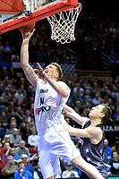 GRONINGEN - Basketbal, Donar - Cluj ,  Europe League, seizoen 2017-2018, 24-01-2018,  score van Donar speler Thomas Koenes scoort
