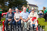 Enjoying the Valentia Regatta from a prime position were l-r; John Francie Curran, Jimmy Casey, John & Una O'Sullivan.