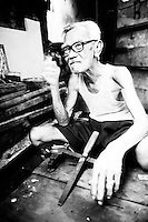 An old carpenter in Indonesia