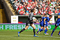 Portland, Oregon - Sunday May 29, 2016: Seattle Reign FC goalkeeper Haley Kopmeyer (28). The Portland Thorns play the Seattle Reign during a regular season NWSL match at Providence Park.