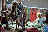 """BOGOTÁ-COLOMBIA-02-04-2014. Ensayo de la obra """"Los Incontados: Un Tríptico"""" bajo la dirección de Heidi y Rolf Abderhalden coproducción del FITB y la compañía Mapa Teatro de Colombia; obra participante del XIV Festival Iberoamericano de Teatro de Bogotá 2014./ Rehersal play of """"Los Incontados: Un Triptico"""" under the direction of Heidi and Rolf Abderhalden of the company Mapa Teatro de Colombia that is as a part of  schedule of the XIV Ibero-American Theater Festival to be Helm in Bogota 2014.  Photo: VizzorImage/ Gabriel Aponte /Staff"""