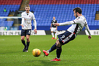 Bolton Wanderers' Adam Le Fondre shoots at goal <br /> <br /> Photographer Andrew Kearns/CameraSport<br /> <br /> The EFL Sky Bet Championship - Bolton Wanderers v Fulham - Saturday 10th February 2018 - Macron Stadium - Bolton<br /> <br /> World Copyright &copy; 2018 CameraSport. All rights reserved. 43 Linden Ave. Countesthorpe. Leicester. England. LE8 5PG - Tel: +44 (0) 116 277 4147 - admin@camerasport.com - www.camerasport.com