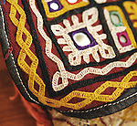 ANTIQUE MUSEUM QUALITY EMBROIDERED TORAN OR DOOR PANEL FROM THE RABARI TRIBE