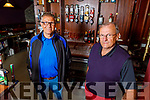 Adrian and Gerard O'Sullivan in the Castle Bar on Saturday.