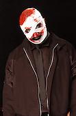 "(#6) Shawn ""Clown"" Crahan – custom percussion, backing vocals,.Slipknot Studio Portrait Session .In Desmoines Iowa in 2001.Photo Credit: Eddie Malluk/Atlas Icons.com"