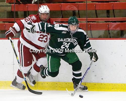 Rence Coassin (Harvard - 17), Evan Stephens (Dartmouth - 24) - The Harvard University Crimson defeated the Dartmouth College Big Green 4-1 (EN) on Monday, January 18, 2010, at Bright Hockey Center in Cambridge, Massachusetts.