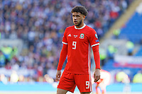Tyler Roberts of Wales in action during the UEFA EURO 2020 Qualifier match between Wales and Slovakia at the Cardiff City Stadium, Cardiff, Wales, UK. Sunday 24 March 2019