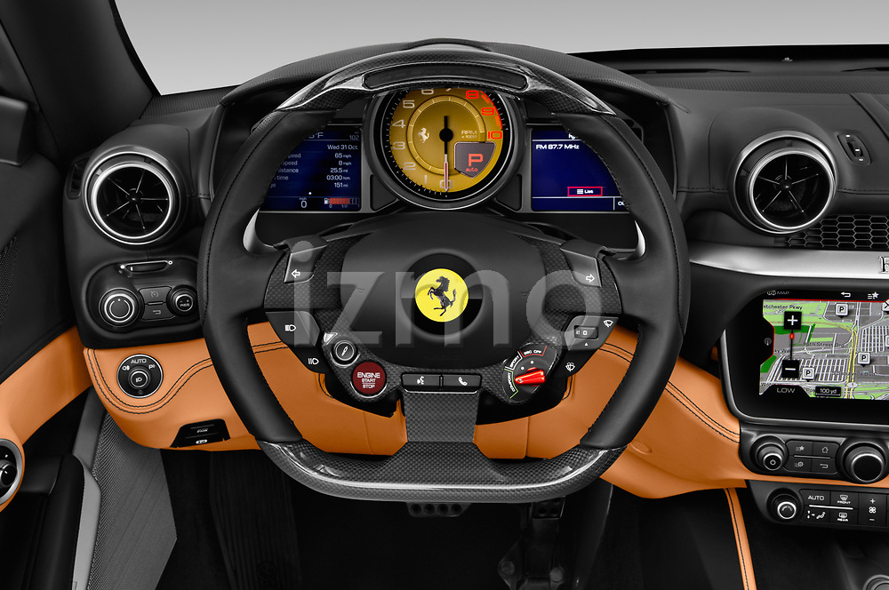 Car pictures of steering wheel view of a 2018 Ferrari Portofino base 2 Door Convertible