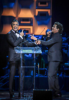 MIAMI, FL - OCTOBER 19: Jaime Camil and Carlos Vives at The 2017 MUSA Awards at the James L Knight Center in Miami, Florida on October 19, 2017. Credit: Majo Grossi/MediaPunch /NortePhoto.com