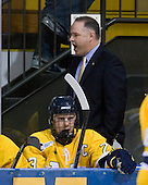 Chris Barton (Merrimack - 23), Mark Dennehy (Merrimack - Head Coach) - The Merrimack College Warriors defeated the Boston College Eagles 5-3 on Sunday, November 1, 2009, at Lawler Arena in North Andover, Massachusetts splitting the weekend series.