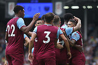 West Ham United's Manuel Lanzini celebrates scoring his side's first goal with his team mates<br /> <br /> Photographer Rob Newell/CameraSport<br /> <br /> Football Pre-Season Friendly - Fulham v West Ham United - Saturday July 27th 2019 - Craven Cottage - London<br /> <br /> World Copyright © 2019 CameraSport. All rights reserved. 43 Linden Ave. Countesthorpe. Leicester. England. LE8 5PG - Tel: +44 (0) 116 277 4147 - admin@camerasport.com - www.camerasport.com