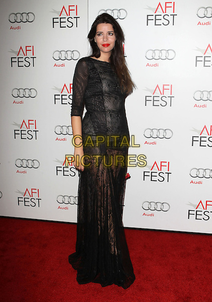 Anabela Moreira.AFI FEST 2012 'On The Road' gala screening, Grauman's Chinese Theatre, Hollywood, California, USA..3rd November 2012.full length dress black lace.CAP/ADM/KB.©Kevan Brooks/AdMedia/Capital Pictures.