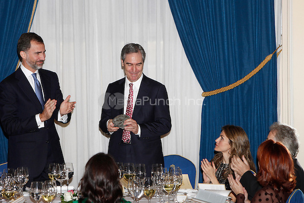 Prince Felipe of Spain, Michael Ignatieff and Princess Letizia of Spain attend the 'Francisco Cerecedo Journalism Award' ceremony at the Ritz Hotel in Madrid. November 20, 2012. (ALTERPHOTOS/Caro Marin) /NortePhoto /MediaPunch Inc. ***FOR USA ONLY***