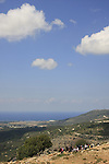 Israel, Upper Galilee, view from Park Adamit