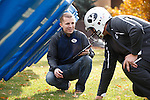 1310-76 117<br /> <br /> 1310-76 XOnano Smart Foam<br /> <br /> BYU Mechanical Engineering Masters student Jake Merrell demonstrates a smart foam he created called XOnano that can detect force. He is testing the foam in the padding of a football helmet with hopes that it can aid football teams in preventing the long term effects of concussions.<br /> <br /> October 30, 2013<br /> <br /> Photo by Jaren Wilkey/BYU<br /> <br /> © BYU PHOTO 2013<br /> All Rights Reserved<br /> photo@byu.edu  (801)422-7322