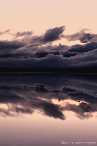 Abstract of water reflection in Badwater, Death Valley, California