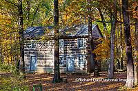 63895-16520 Cabin at Log Cabin Village in fall Kinmundy IL
