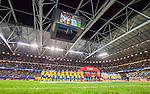 Solna 2015-09-08 Fotboll EM-kval , Sverige - &Ouml;sterrike :  <br /> Vy &ouml;ver Friends Arena med publik p&aring; l&auml;ktarna under lineup inf&ouml;r matchen mellan Sverige och &Ouml;sterrike <br /> (Photo: Kenta J&ouml;nsson) Keywords:  Sweden Sverige Solna Stockholm Friends Arena EM Kval EM-kval UEFA Euro European 2016 Qualifying Group Grupp G &Ouml;sterrike Austria inomhus interi&ouml;r interior supporter fans publik supporters