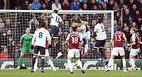 Everton's Yerry Mina scores the opening goal past Burnley's Joe Hart<br /> <br /> Photographer Rich Linley/CameraSport<br /> <br /> The Premier League - Burnley v Everton - Wednesday 26th December 2018 - Turf Moor - Burnley<br /> <br /> World Copyright &copy; 2018 CameraSport. All rights reserved. 43 Linden Ave. Countesthorpe. Leicester. England. LE8 5PG - Tel: +44 (0) 116 277 4147 - admin@camerasport.com - www.camerasport.com
