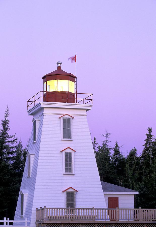 Bear Point Lighthouse, Cape Bear, Northumberland Straight, Prince Edward Island, Canada
