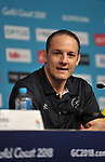 David Grevemberg (CEO, Commonwealth games federation). Team Scotland press conference. Main press centre. Gold Coast 2018. Queensland. Australia. 04/04/2018. ~ MANDATORY CREDIT Garry Bowden/SIPPA - NO UNAUTHORISED USE - +44 7837 394578