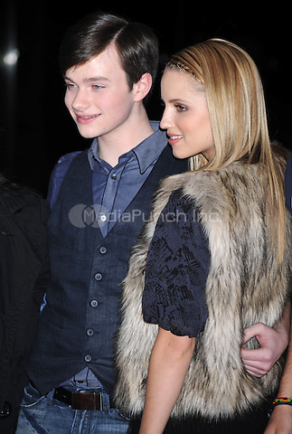 Chris Colfer and Dianna Agron at the Glee Season One cd release at Borders Columbus Circle in New York City. November 3, 2009.. Credit: Dennis Van Tine/MediaPunch