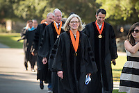 Susan Mallory '76 M'78. To the rhythmic thumps of taiko drummers, 508 members of the Class of 2020 trooped into Thorne Hall on Aug. 30, 2016 for Occidental College's 129th Convocation ceremony, a tradition that formally marks the start of the academic year and welcomes the new class. Trustees, faculty and staff welcomed the incoming class.<br />