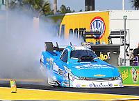 Mar 15, 2015; Gainesville, FL, USA; NHRA funny car driver John Force during the Gatornationals at Auto Plus Raceway at Gainesville. Mandatory Credit: Mark J. Rebilas-