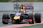 Red Bull's driver Sebastian Vettel drives during a race at the Circuit de Catalunya on May 11, 2014. <br /> PHOTOCALL3000/PD